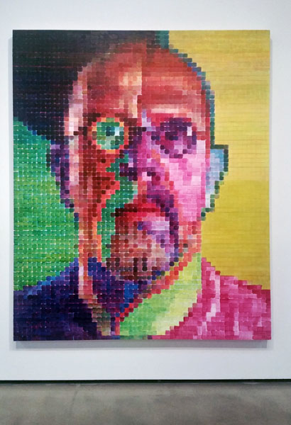 Chuck-Close-Red-Yellow-Blue-Pace-Gallery-Self-Portrait-