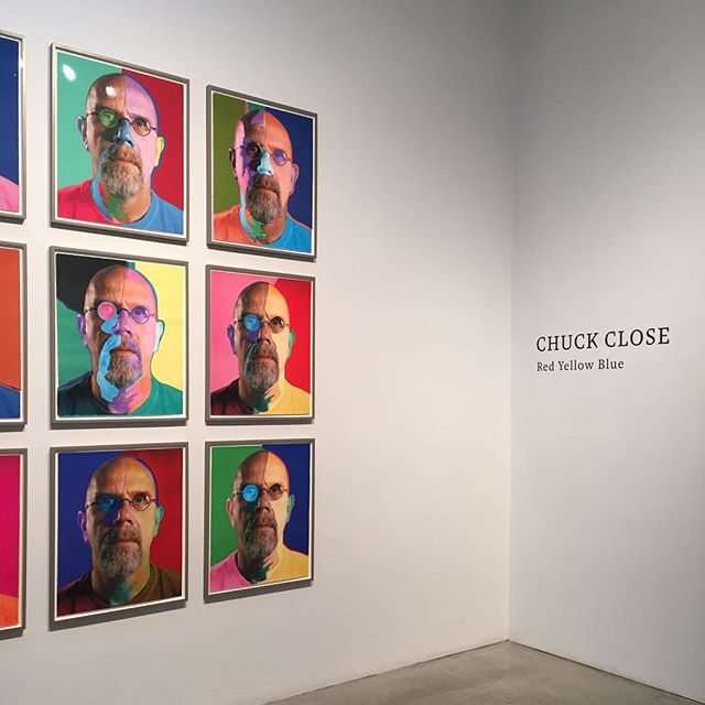 Chuck-Close-Red-Yellow-Blue-his-portrait