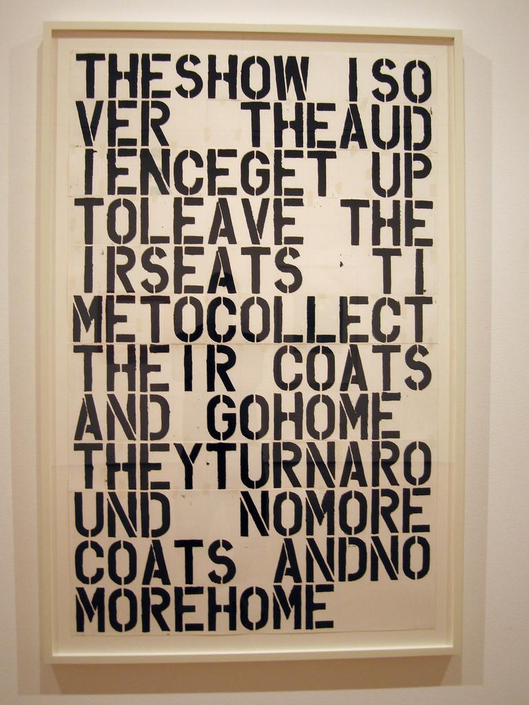 Christopher Wool MoMA