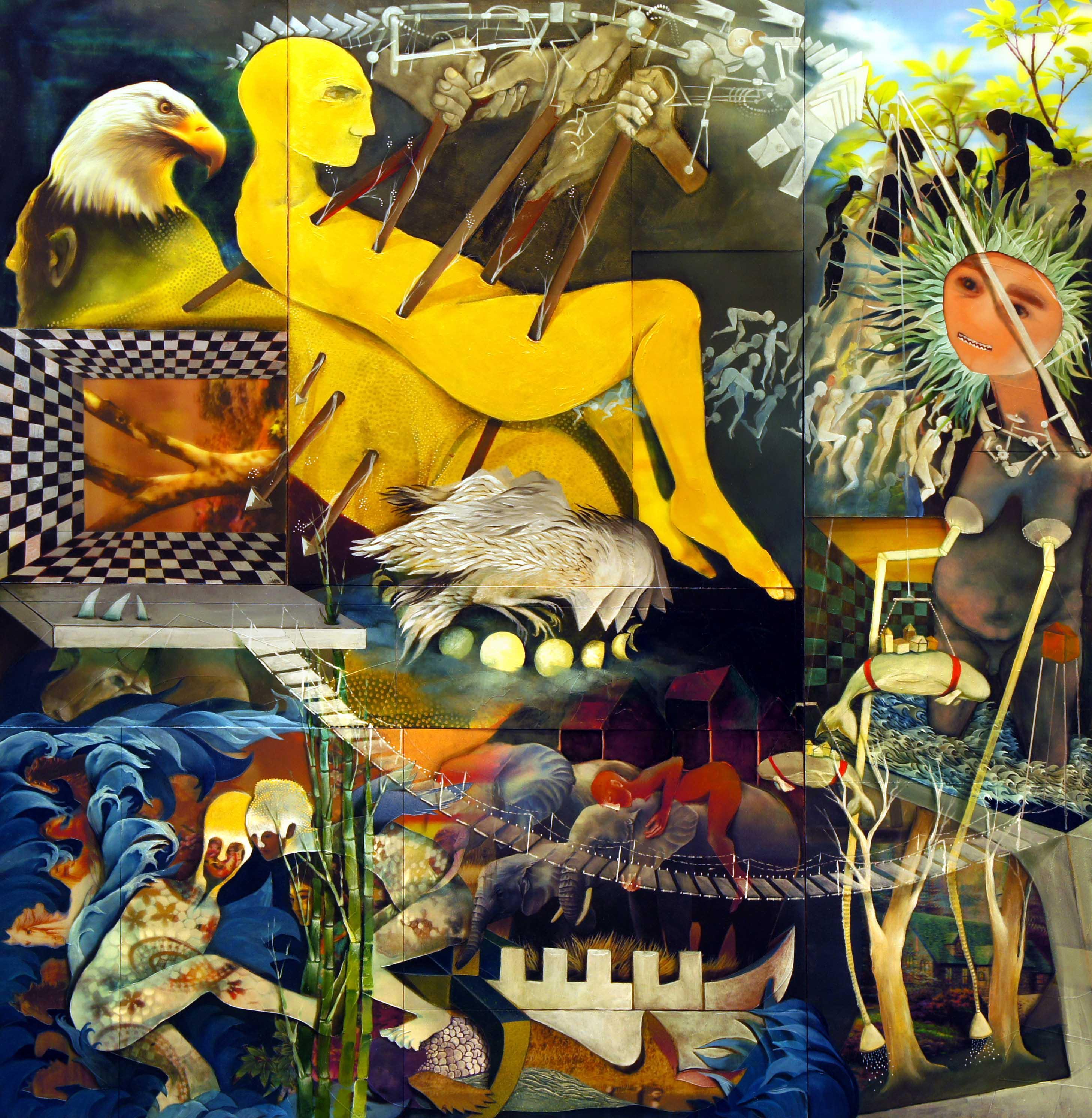پرسه های وارونه - نمایشگاه الهیار نجفی گالری آران (مینا فشنگچی)