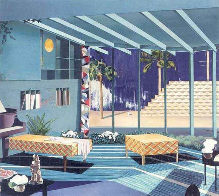 MATTHIAS WEISCHER Living Room, 2003, 170 x 190cm
