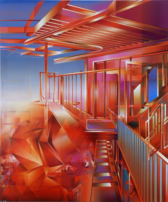 untitled, acrylic on canvas, 120 x 130 cm, 2010
