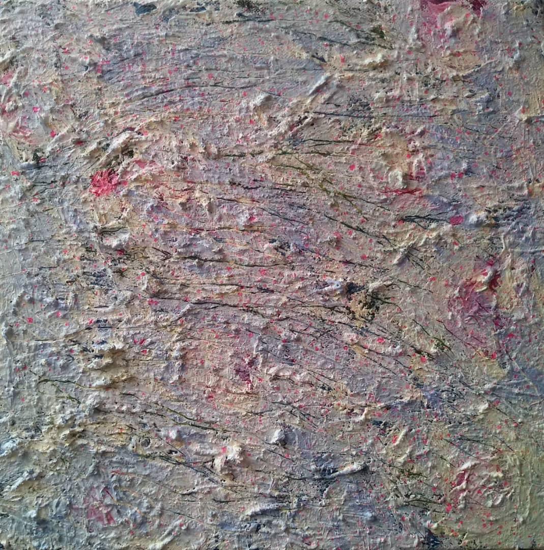 ترکیب مواد روی بوم, ۳۰×۳۰ سانتیمتر, ۱۳۹۸