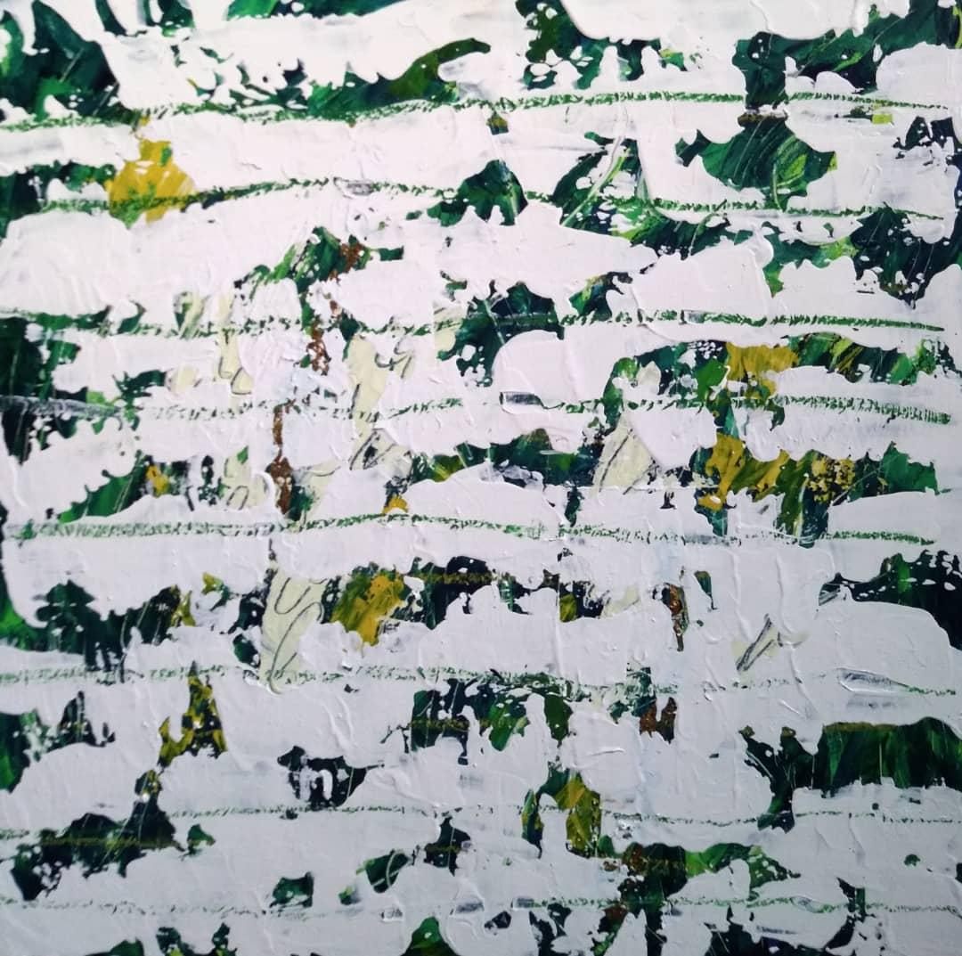 ترکیب مواد روی چوب, سانتیمتر۵۰×۵۰, ۱۳۹۸